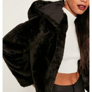 Night Out! Gorgeous Faux Fur Hooded Jacket